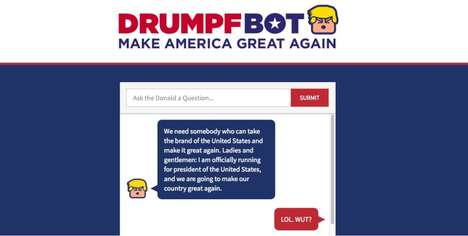 Political AI Chat Bots - The Donald Drumpf Bot From ChatPrime is Coming Soon to Facebook Messenger