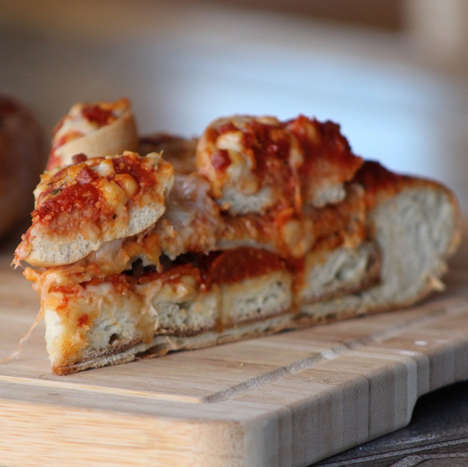 Pizza-Stuffed Pizzas - This Decadent Savory Pie by The Vulgar Chef is Topped with More Pizza