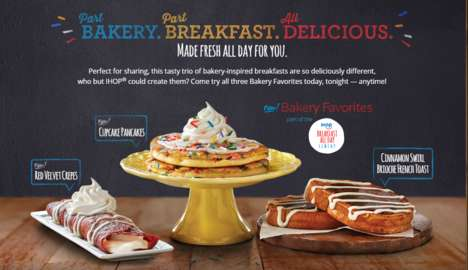 Bakery-Inspired Pancakes - The New Cupcake Pancakes from IHOP are Inspired by a Sweet Treat
