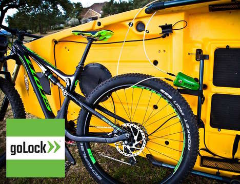 Bicycle Lock Alarms - The 'goLock VENTURE' Locking System Keeps an Eye on Your Bicycle