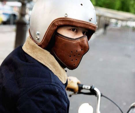 Pollution-Filtering Motorcycle Masks - This Slim Leather Mask Keeps Riders Breathing Fresh Air