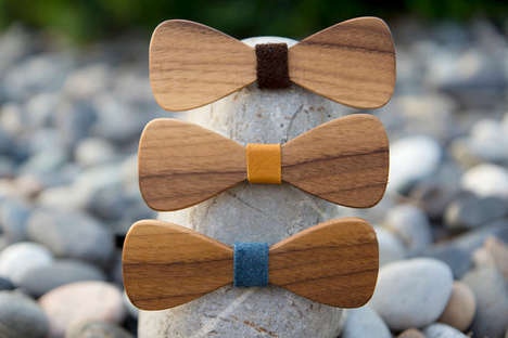 Walnut Bow Tie Accessories - Etsy's KnotKnotOutfitters Shop Specializes in Wood-Crafted Accessories