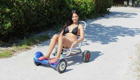 Transformational Hoverboard Carts - The 'HoverCart' Turns an Electric Hoverboard into a Go-Kart