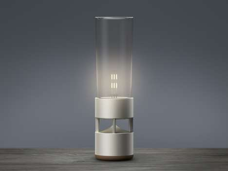 Soothing Bluetooth Lamps - The Sony Glass Sound Speaker Blends New Tech with Classic Aesthetics