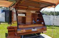 Cedar Teardrop Trailers - This Teardrop Trailer Features Liberal Use Of Gorgeous Red Cedar