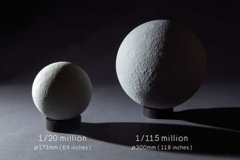 Shadow-Casting Moon Models - This 3D Lunar Model Mimics Lunar Cycles to Gorgeous Effect