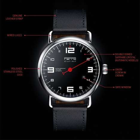 Tachometer-Inspired Watches - Ferro's New Single-Hand Watches Blend Luxury and Affordability