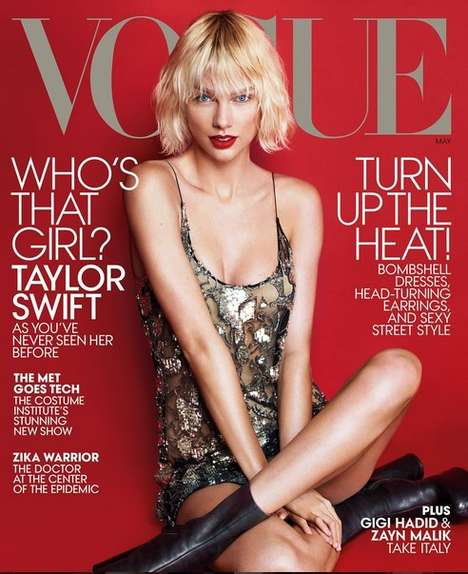 Couture-Clad Celebrity Editorials - The Latest Taylor Swift Vogue Cover Story is Rocker-Chic