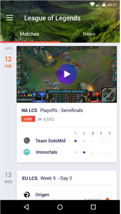Competitive Gaming News Apps - The Yahoo Esports App is Designed to Keep Gamers in the Loop