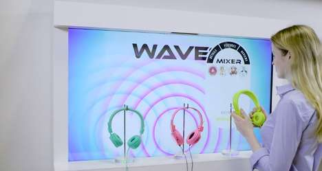 Immersive Audio Displays - Perch Interactive's Connected Headphone Display Spotlights New Products