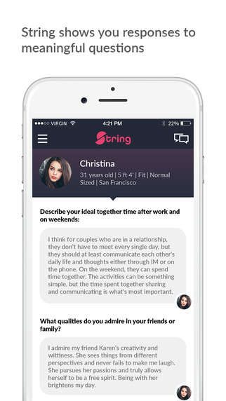 Psychological Dating Apps - The 'String' Dating App is Inspired by a Psychological Study