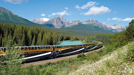 360-Degree Train Tours - Rocky Mountaineer's Virtual Reality Train Tour Showcases the Rockies