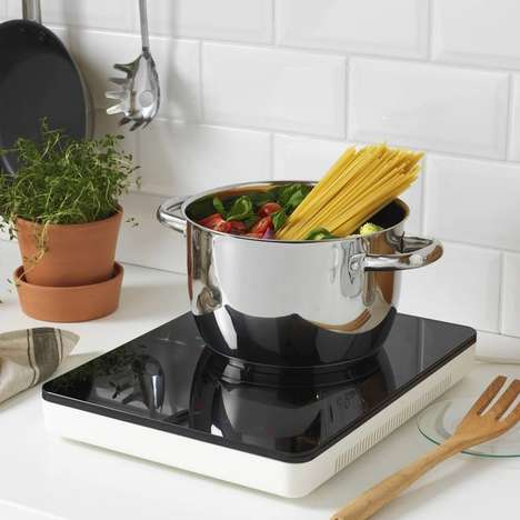 Portable Induction Hobs - IKEA's New TILLREDA Induction Hob is Made for Small Living Spaces