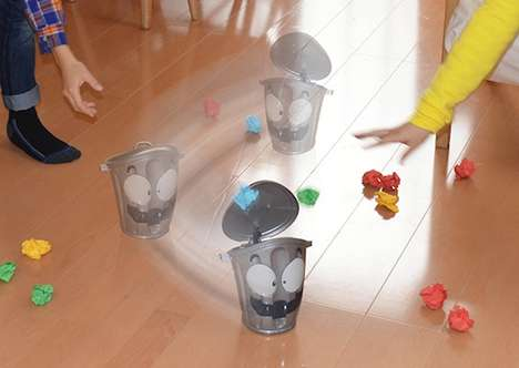 Randomized Paper Toss Games - The Gomipakkun Wild Trash Can Game Enhances Kids' Motor Skills
