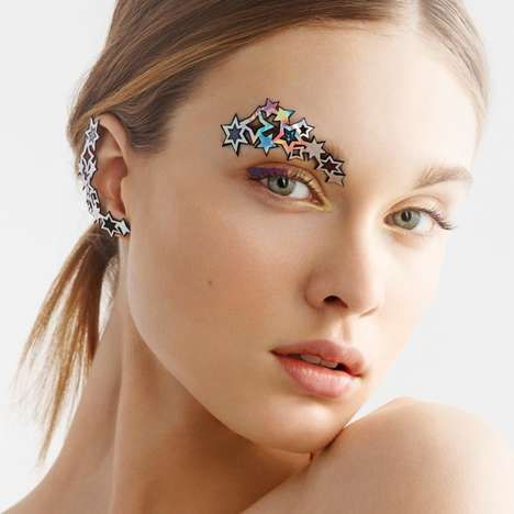 Starry Face Stickers - Face Lace's Products Celebrate the Growing Popularity of Stick-On Cosmetics