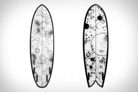 Graffiti Artist-designed Surfboards - The Stampd x Futura Surfboard is a Functional Work of Art