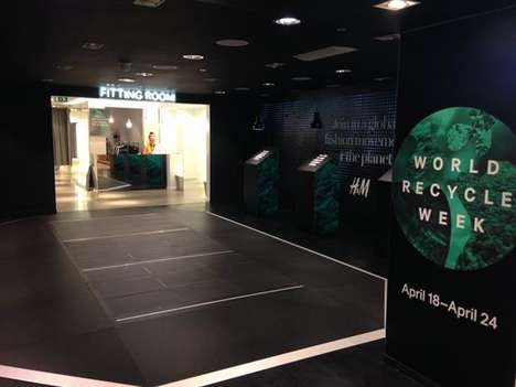 Eco Fashion Installations - H&M Celebrates World Recycle Week with a Consumer-Powered Display