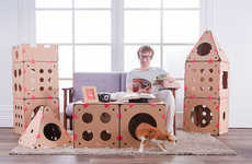 The BoxKitty is a Set of Feline Houses With Endless Set-Up Options