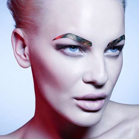 Metallic Eyebrow Decals - Face Lace's Eyebrow Stickers Include Neutral and Vibrant Textures