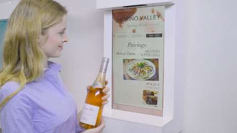 Narrative Wine Displays - Perch Interactive's Project is a Digitized Kiosk for Morino Valley Wines