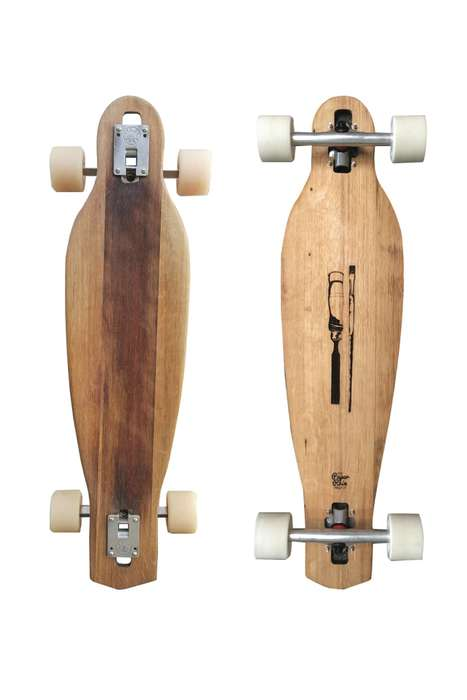 Upcycled Wine Barrel Longboards - These Longboards are Made from Marlborough Wine Barrels