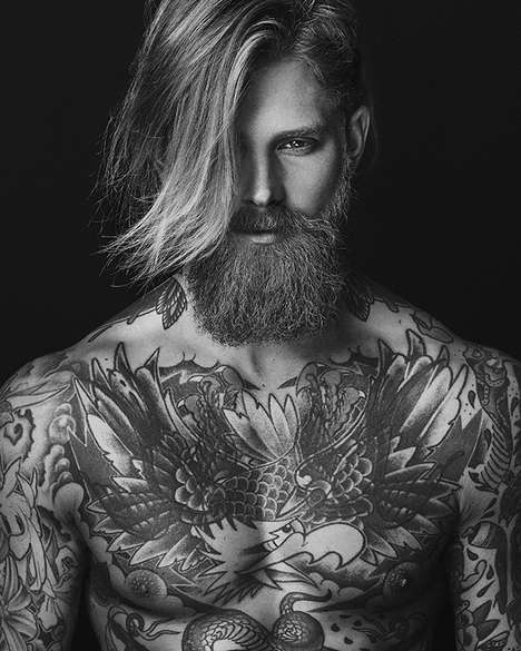 Tattooed Hipster Photography - Giuseppe Vitariello Captures Josh Mario John in a Candid Image Set