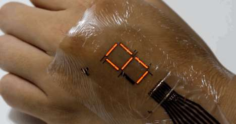 Wearable Electronic Sensors - The E-Skin Sensors Can Be Fixed to the Skin Like Temporary Tattoos