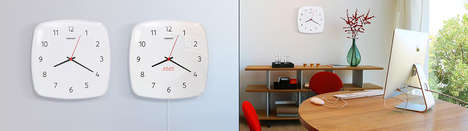 Minimalist Multi-Clocks - The Classic Duet Wall Clock is Both Analog and Digital