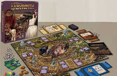 Nostalgic Film Board Games - The 80s Labyrinth Movie is Reimagined  With Character Pieces and Cards