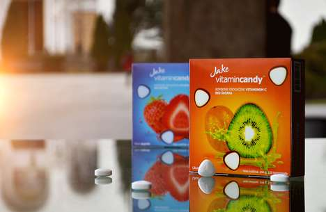 Shape-Focused Candy Branding - Imagery Used for Jake VitaminCandy Packaging Creatively Triangular