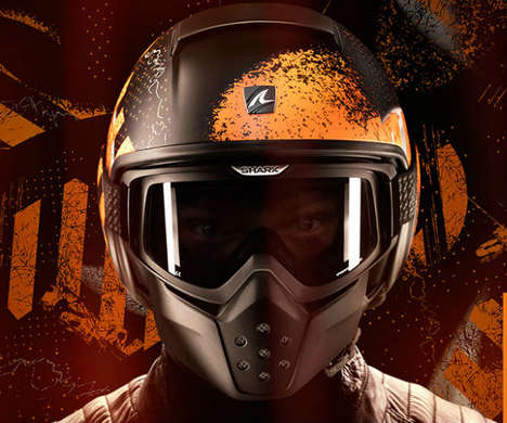 Anti-Fog Motor Helmets - The Shark Raw Motorcycle Helmets Boast Clear Vision Throughout One's Ride
