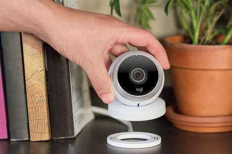 Live-Stream Wireless Cameras - The Logitech 'Circle' HD Video Security Camera Records to the Cloud
