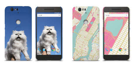 NFC Phone Cases - Google's Customizable 'My Live Case' Designs Interact with Nexus Phones