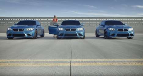 360-Degree Auto Advertisements - Gigi Hadid Helps to Tease the Launch of the New BMW M2