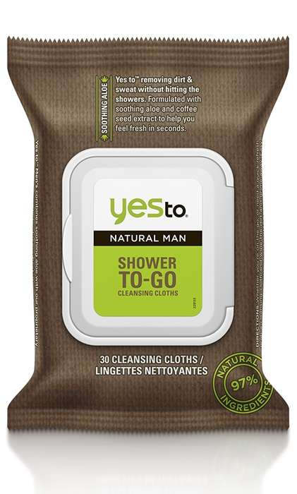Portable Shower Wipes - These 'Yes to Natural' Body Wipes for Men Refresh and Invigorate