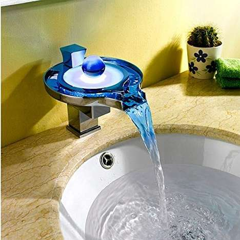 Color-Changing LED Faucets - The 'Aquafaucet' Chrome Faucet is Powered by the Force of the Water