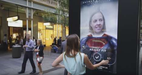 Digital Superhero Posters - These AR Posters Transform People into Batman or Superman