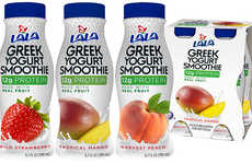 Drinkable Greek Yogurts - The LALA Greek Yogurt Smoothies are Made for Consumers on the Go
