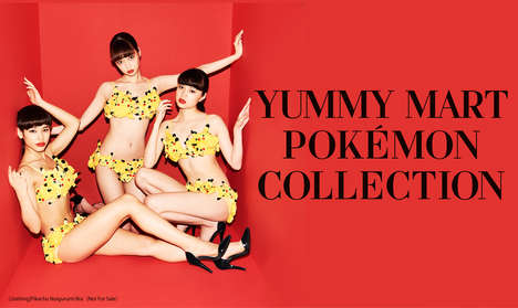 Anime Character Lingerie - The New Pokémon Lingerie Line Celebrates the Brand's 20th Anniversary
