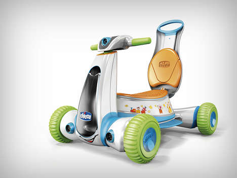 Four-in-One Child Scooters - The Chicco Ride On Scooter Converts to be Fun for Multiple Age Ranges