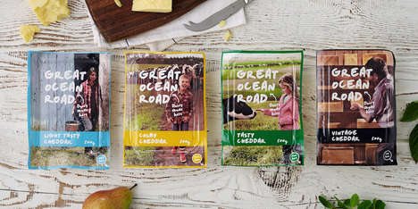 Photographic Cheese Packages - Great Ocean Road Dairy Uses Real Photos to Convey Simplicity