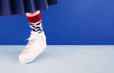Paper Sock Lookbooks - This Collection of Designer Socks is Showcased in a Papercraft World