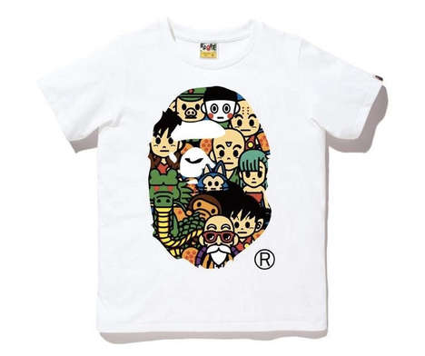 Anime Streetwear Apparel - The A Bathing Ape x Dragon Ball Capsule Collection is Character-Themed