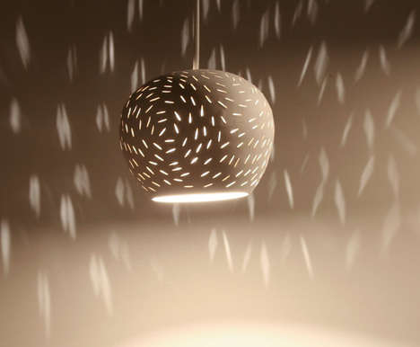 Shadow Play Light Fixtures - This Clay Lamp Modulates Light to Create Vivid Patterns