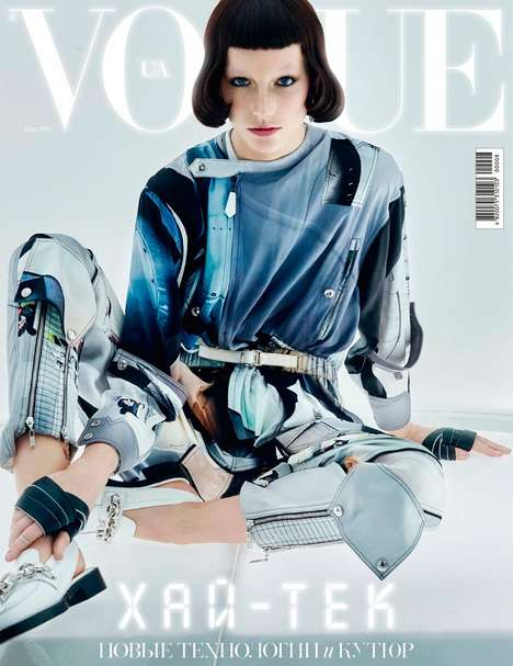 Futuristic Metallic Fashion - Josephine Le Tutour Stars in the Latest Issue of Vogue Ukraine