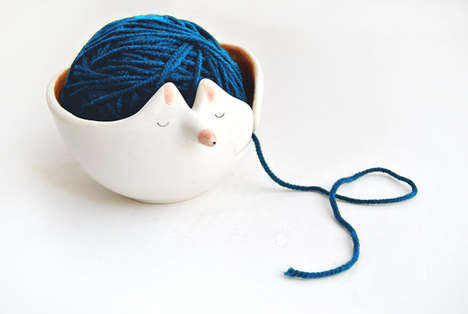Quirky Yarn Containers - These Animal Ceramics Draw Inspiration from Nature