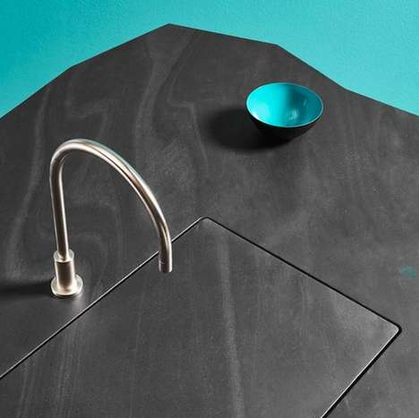 Retractable Sink Designs - The Offmat Kitchen Sink Blends into The Counter and Opens Using Gestures