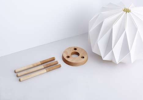 Flat-Pack Lamps - The Lampo's Origami Shape Allows the Light to be Packaged Completely Levelled