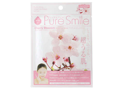 Floral Soybean Skincare - The Cherry Blossom Face Masks Contain Plant Protein to Hydrate Dry Skin