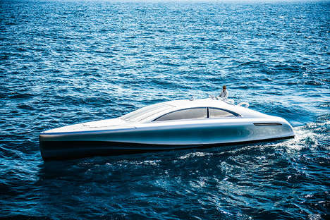 Luxury Vehicle Yacht Designs - The Mercedes-Benz Granturismo Arrow Yacht is Powerfully Appointed
